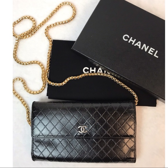 7153297dfe56 CHANEL Bags | Cert Auth Quilted Cc Logos Long Wallet | Poshmark